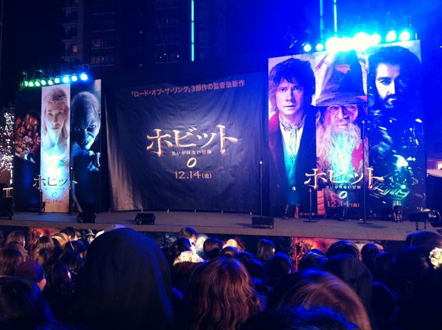 「ホビット:AUJ」ジャパンプレミアイベント開始前