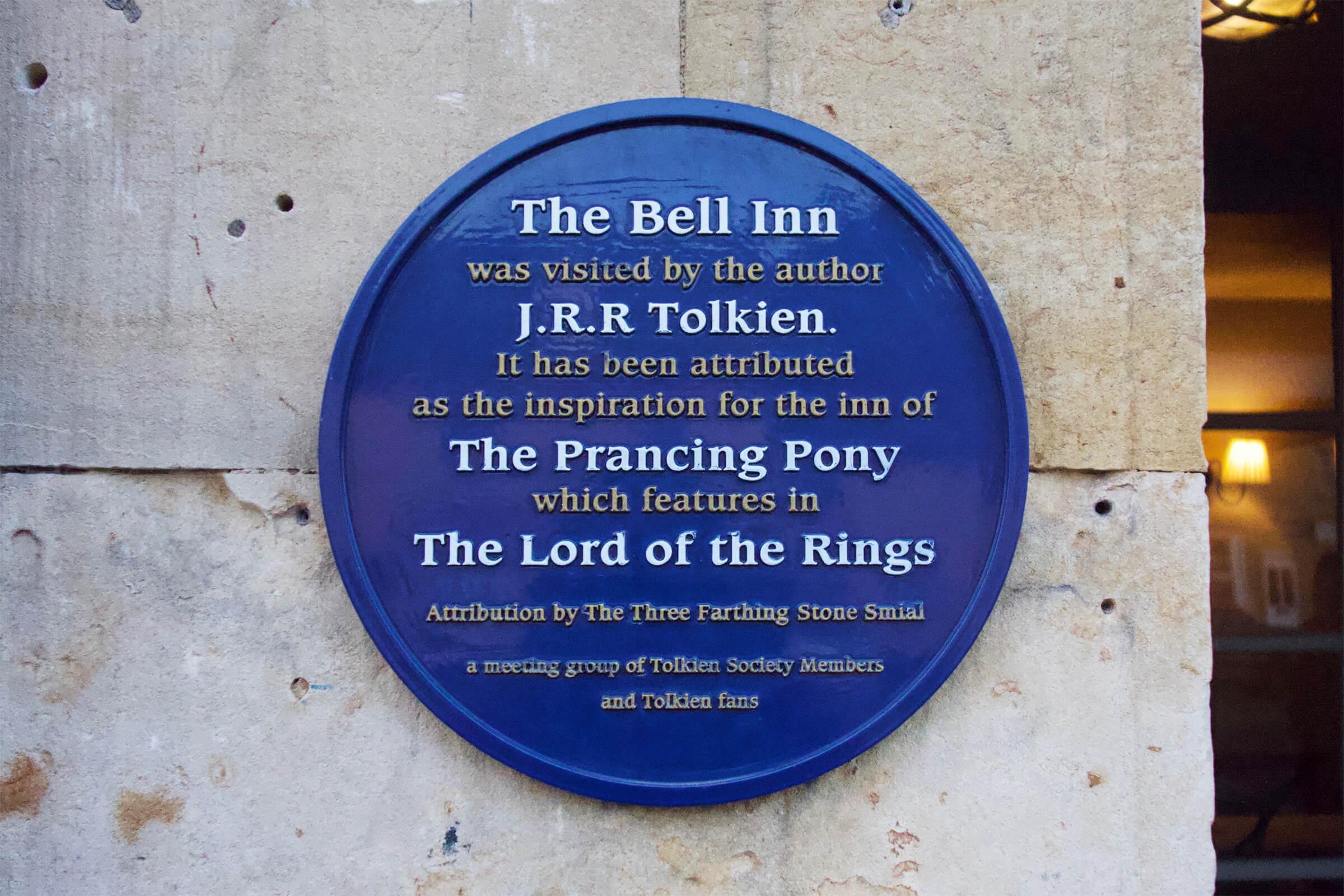 ザ・ベル・インのトールキンのブルー・プラーク