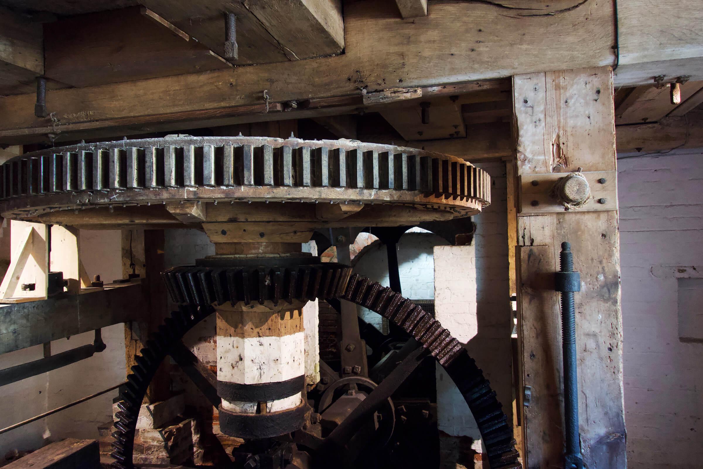水車小屋の歯車