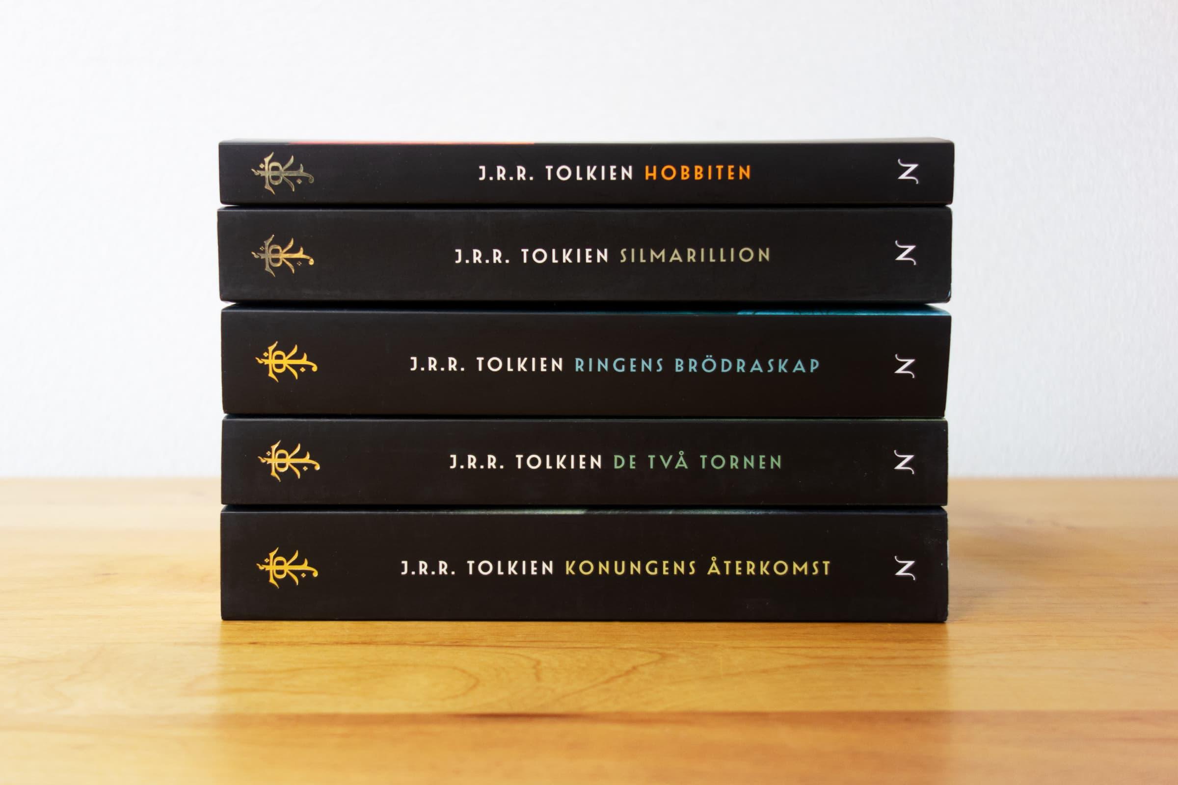 スウェーデン語版トールキン作品 背表紙