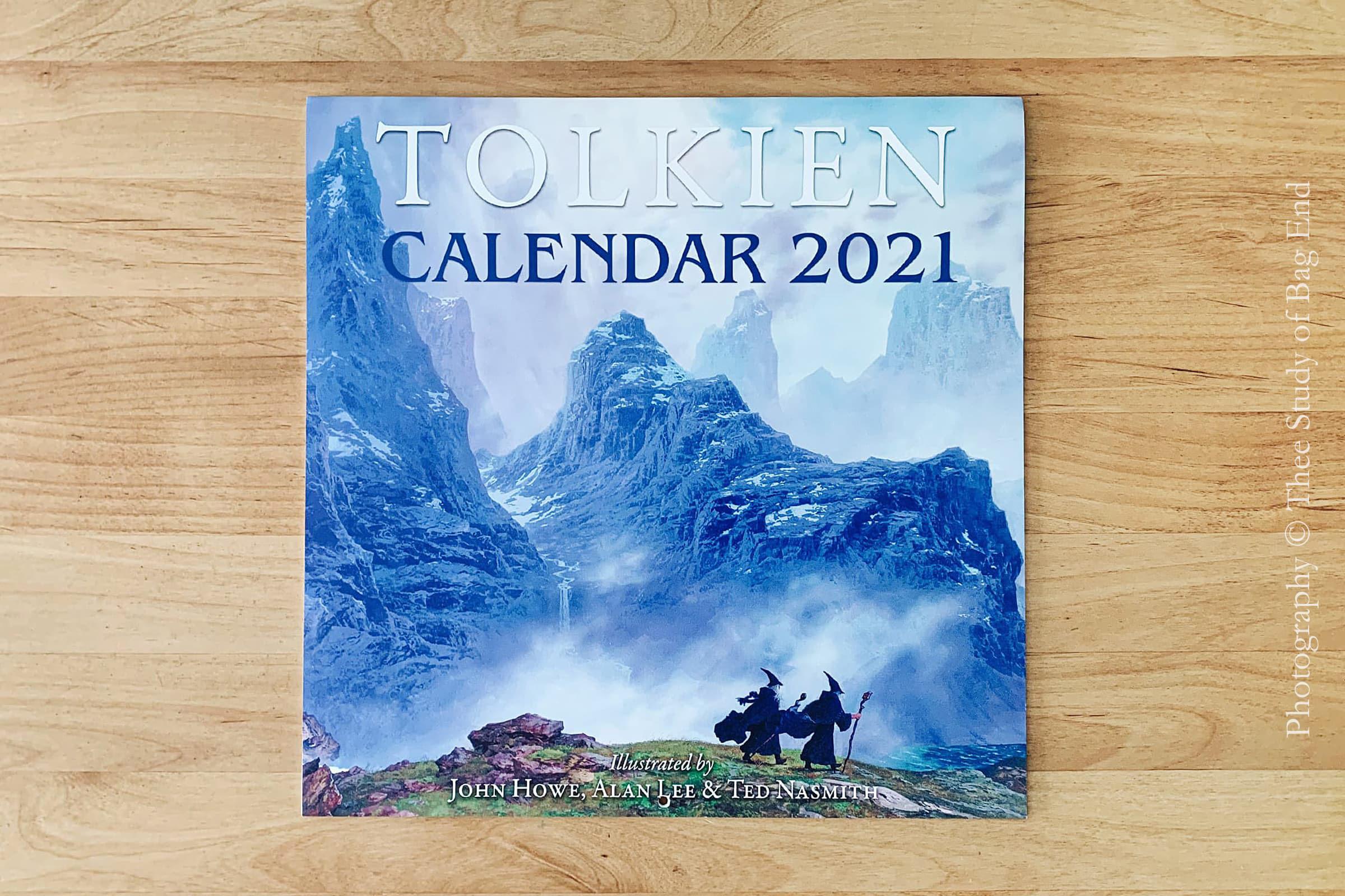 2021年のトールキンカレンダー 表紙