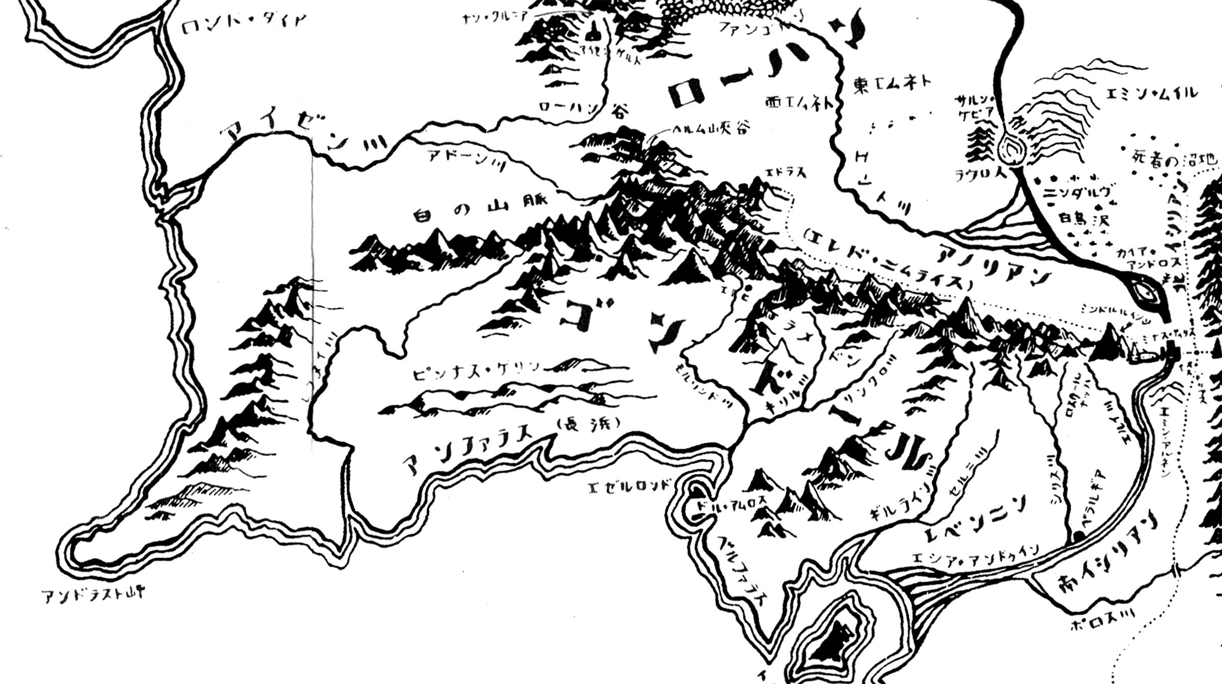 ゴンドールの地図
